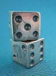 Solid Sterling Silver Dice.via Etsy. Created by SilverMuseStudio. A studio mate of mine :D I love these!