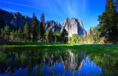 Yosemite National Park is a beautiful place to hike year-round. Description from adventure.howstuffworks.com. I searched for this on bing.com/images