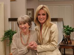 Julie Harris (left) and Donna Mills during the 'Knots Landing Reunion: Together Again' special.