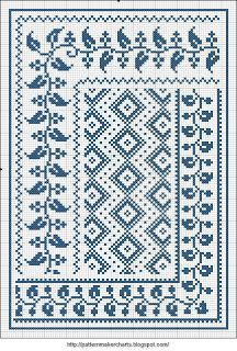 Free Easy Cross, Pattern Maker, PCStitch Charts Free Historic Old Pattern Books: Sajou No 658 Cross Stitch Borders, Cross Stitch Designs, Cross Stitching, Cross Stitch Embroidery, Embroidery Patterns, Cross Stitch Patterns, Hand Embroidery, Easy Cross, Border Pattern