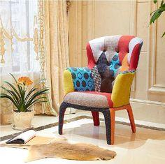 Nordic ikea furniture / modern fabric chair / pachwork style/ fashion luxury soft roll cloth sofa 5 color