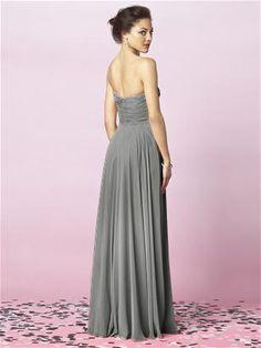 Charcoal Gray bridesmaid dress.
