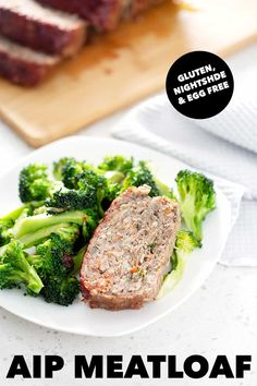 This classic AIP Meatloaf recipe is full of flavor and hidden veggies. It's a delicious way to serve your family a healthy and balanced meal. Allergy Free Recipes, Paleo Recipes, Healthy Dinner Recipes, Real Food Recipes, Meatloaf Recipes, Hidden Veggies, Ground Beef Recipes, Food Dishes