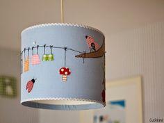 Lampenschirm, DIY, Kinderzimmerlampe, Nähen für Kinder, Eulen