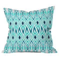 Amy Sia Ikat Jade Throw Pillow by DENY Designs