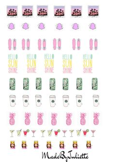 pineapple sunshine cocktail arizona tea stickers #planner