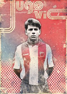 Poster collection dedicated to the one of the best football clubs - Red Star from Belgrade. World Football, Football And Basketball, Football Players, Red Star Belgrade, Soccer Boots, Graphic Design Posters, Digital Collage, Vintage Sport, Serbian