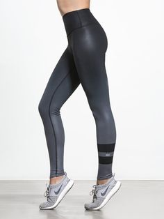2fad661b8d High Waist Airbrush Legging in Gradient Black by Alo Yoga from Carbon38 Workout  Leggings, Women's