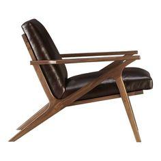 Cavett Chair from Crate & Barrel.  Reminiscent of mid-century Danish modern.  http://www.crateandbarrel.com/furniture/chairs/cavett-leather-chair/s688978