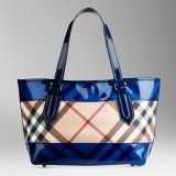 Burberry - Bright Blue Small Nova Perspex Tote Bag