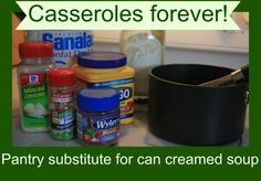 It's a key ingredient in almost any casserole: cream of mushroom soup. Or cream of chicken, or cream of potato, or cream of celery. I used to buy cans and