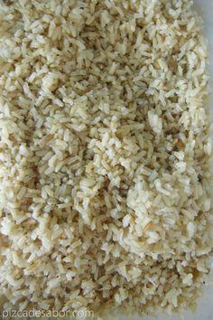 Técnica fácil y rápida para que el arroz integral siempre quede perfecto,con los granos de arroz todos separados, cocidos y nada batido, duro o chicloso.