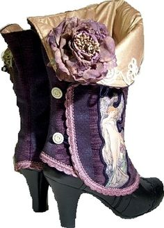 Purple spats - so Victorian and so gorgeous!