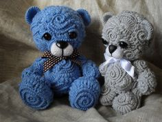 Freeform crochet teddy bears!!!