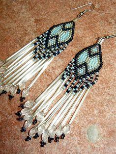 Vintage Beaded Earrings Native American Southwest by retrosideshow, $19.99