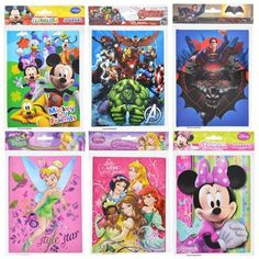 Licensed Character Hard-Cover Journals, 40 pgs. (Set of 5)