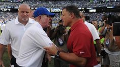 Tom Coughlin Yells At Greg Schiano During The Postgame Handshake