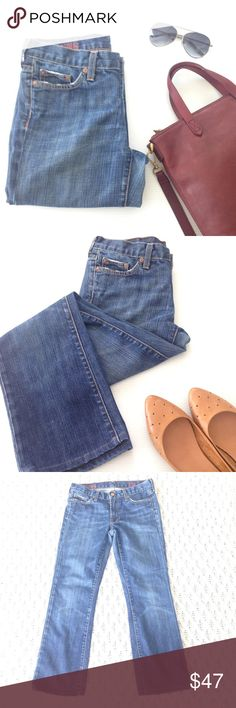 🆕 J. Crew Hipslung bootcut jeans A medium wash bootcut classic, J. Crew's hipslung jeans are always in! Tastefully distressed, these jeans have just enough stretch to them. Size 27R, inseam measures 27.5 inches. In EUC! J. Crew Jeans Boot Cut