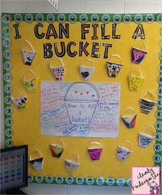 Filling your bucket book bucket filling! Kindergarten Classroom, Classroom Ideas, Classroom Procedures, Kindergarten Writing, Future Classroom, Bucket Filling Activities, Fill Your Bucket, Friendship Theme, Reading Task Cards