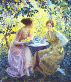 German Impressionist That Painted The Art Tea Time
