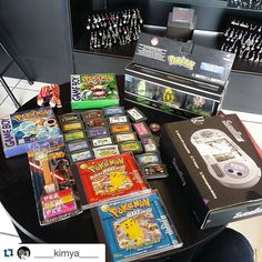 On instagram by retro_nintndo #gameboy #microhobbit (o) http://ift.tt/1J7nRrF putting that smile on people's faces! Enjoy it all happy it got there ok!  #Repost @____kimya____ with @repostapp.  Got this supaboy pokemon custom green pokemon blue and loose gba games from my boy @retro_nintndo and of course like the dope guy he is he threw in a few nick nacks for free (chikorita set starwars pez 2 pokemon project studio set pokemon toy and 3 clear gameboy box protectors) you dont understand how…