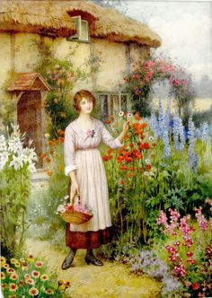 Woman In Her Garden - William Affleck