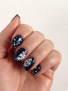 Christmas nail art #chrismas #winter #snow