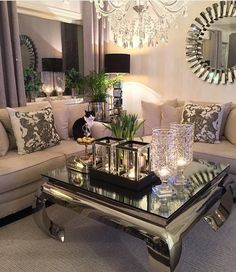 Living room inspiration, glam living room, beautiful living rooms, co Glam Living Room, Living Room Decor Cozy, Living Room Furniture, Rustic Furniture, Antique Furniture, Barn Living, Luxury Furniture, Living Area, Furniture Ideas