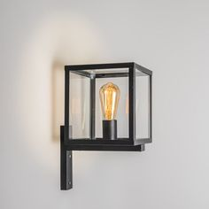 Shop for Industrial square exterior wall lamp black - Rotterdam online! Outdoor Wall Lamps, Outdoor Walls, Outdoor Lighting, Rotterdam, Wall Lights, Ceiling Lights, Exterior Lighting, Pendant Lamp, Candle Sconces