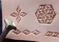 01206 Letter Diamond pattern Leather Stamp Saddlery by Toolpaw, $20.00
