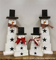 Image result for snowman made of wood