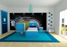 Habitacion con muebles Racing Club