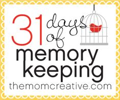 All the posts from 31 Days of Memory Keeping - tons of inspiration on scrapbooking, photos, photo books, journaling and more.