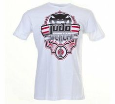 """Venum """"Judo"""" MMA T-shirt - Ice (XL) by Venum. $27.90. """"Judo"""" T-shirt has been manufactured through a beautiful design combining modernity and tradition to pay tribute to Jigoro Kano's martial art. Inspired by a traditional Japanese framework (the lotus form), the Japanese word """"Judo"""" which can be literally translated by way of flexibility, is stylized in Western writing on the face of the T-Shirt but also in Japanese calligraphy (""""Kanji""""). On the back of the produc..."""