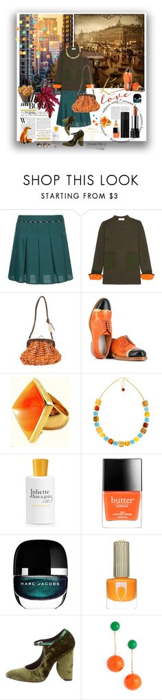 """""""Granny Chic #45"""" by strawberry-latte ❤ liked on Polyvore featuring Guild Prime, Toga, Jamin Puech, Maison Margiela, Kenneth Jay Lane, Be-Jewelled, Juliette Has A Gun, Butter London, Marc Jacobs and Floss Gloss"""