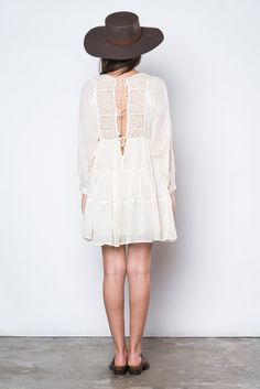 The Joni Mitchell Dress is ready to jump into a VW van and head to the desert for some tunes and sun. It's light and breezy nature is perfect for the hot heat,