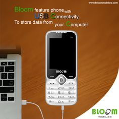Bloom feature phone with USB connectivity: to store data from your computer !!! Read more at : https://bloommobiles.wordpress.com/2016/02/22/bloom-feature-phone-with-usb-connectivity-to-store-data-from-your-computer/
