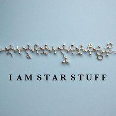 'I am star stuff' written in amino acids