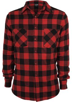 Cord Patched Checked Flanell Shirt