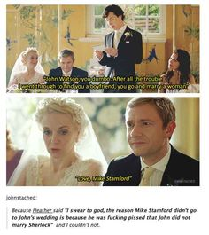 27 Times the Sherlock Fandom won Tumblr: When Mike Stamford returned Whether you ship it or not this is too funny not to pin