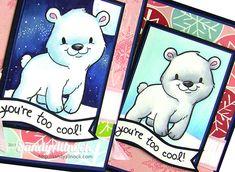 Sandy Allnock Copic White 1 baby bears