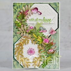 Double Dot, Elegant Centerpieces, Heartfelt Creations, Pink Peonies, Summer Wreath, White Ink, Greeting Cards Handmade, Pattern Paper, Card Sizes