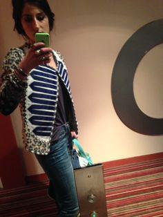 blue leopard band jacket