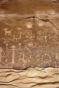 Petroglyphs, Mesa Verde National Park; photo by Isaac Borrego