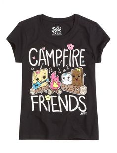 Campfire Friends Graphic Tee | Girls Graphic Tees Clothes | Shop Justice