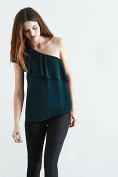 ONE SHOULDER GYPSY TOP @ Warehouse