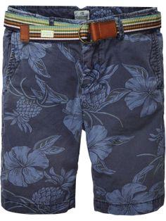 Chino shorts with belt | Short pants | Boys Clothing at Scotch & Soda
