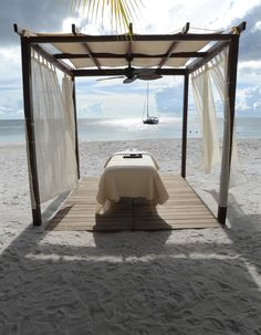 Reach ultimate tranquility and relaxation whilst indulging in a massage on the beach at Buccament Bay in the Carribean