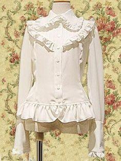 Ruffle Lolita Blouse White