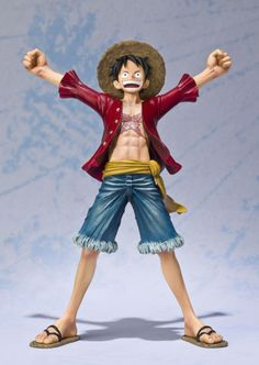 Figura One Piece. Luffy, 15cms Figura de 15 cms perteneciente al popular manga y anime One Piece, con el personaje principal Luffy.